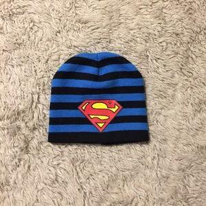 Superman Striped Beanie